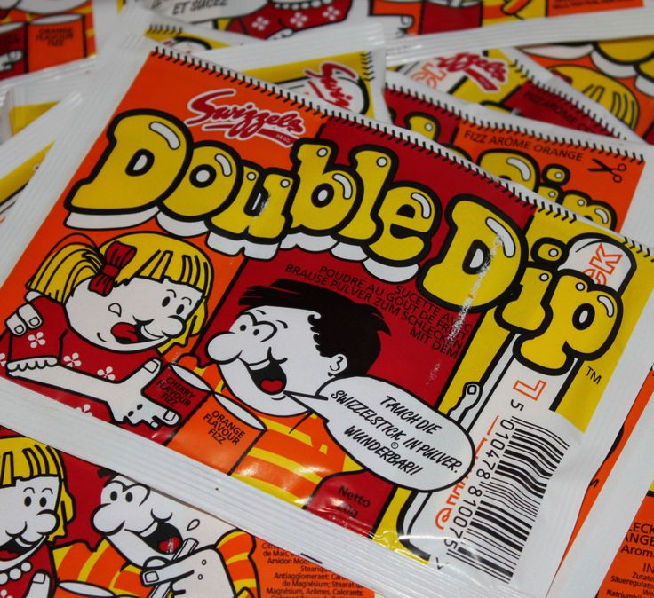 Double Dip sherbert. Many a contorted face was made after the sherbert hit the back of the throat