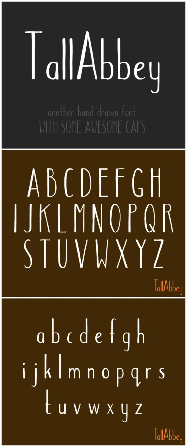 Tall Abbey -- hand-drawn font