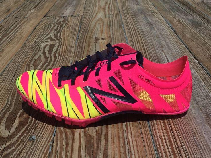 New Balance Running Shoes Track Spikes Amp Pink Yellow Women's SZ 10 ( WSD400B2)