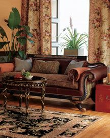 Duncan Phyfe Sofa.  I would love to have my Duncan Phyfe sofa recovered like this one.