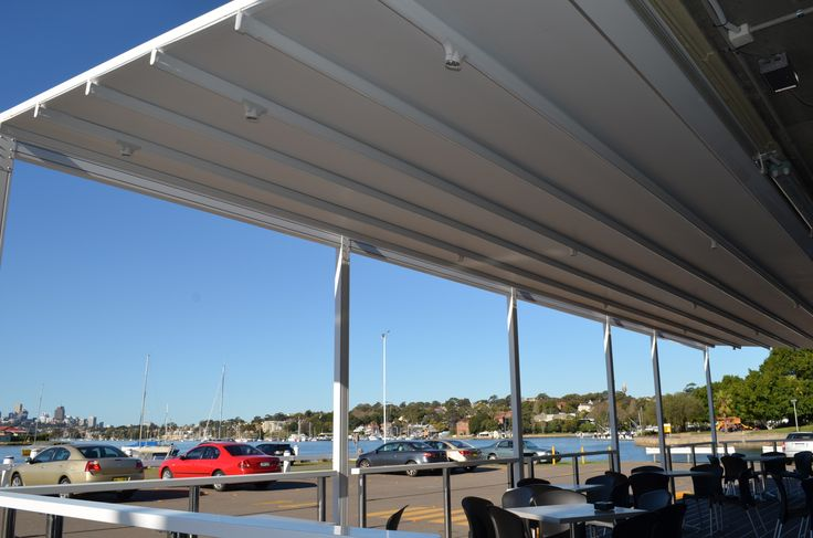 External awning Sydney, Motorised retractable roof at the sailing club