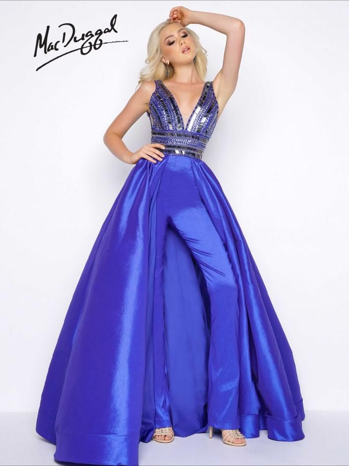 b4eb9fbe180 Beaded Prom Jumpsuit with Full Over Skirt