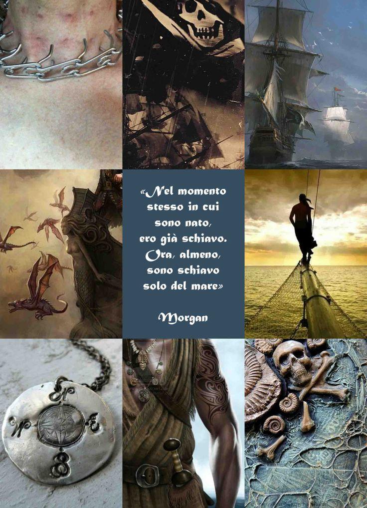 """Morgan è un personaggio de """"L'Ultimo Pirata"""", ©Elena De Martino (Frase e descrizione in italiano)"""