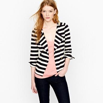 Merriweather jacketMerriweather Jackets, Style, Blazers Outfit, Crew Blazers, Black And White, J Crew, Stripes Blazers, Jcrew, Stripes Jackets