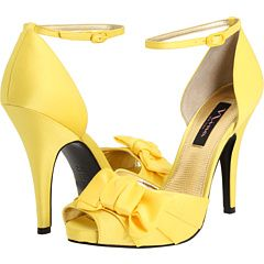 yellow shoes!  why are people not wearing this color more often?