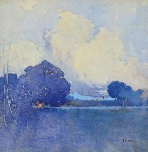 Jesse Jewhurst Hilder - Gathering Clouds - Dora Creek