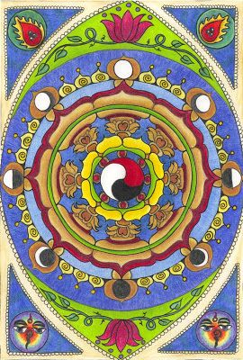 Tarot, Potions, and Psychedelic Magick Spells: Goddess, Lotus, and Universe Mandalas by Cha0sCat