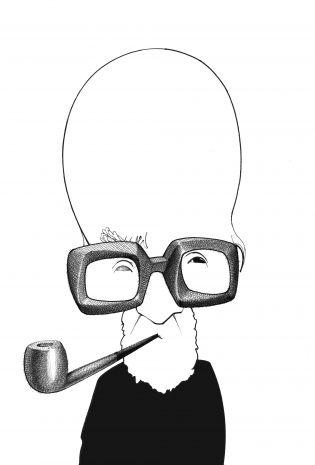 Mircea Eliade -- in Alfabeto Literário (Cassio Loredano) | Fonte: Estadão