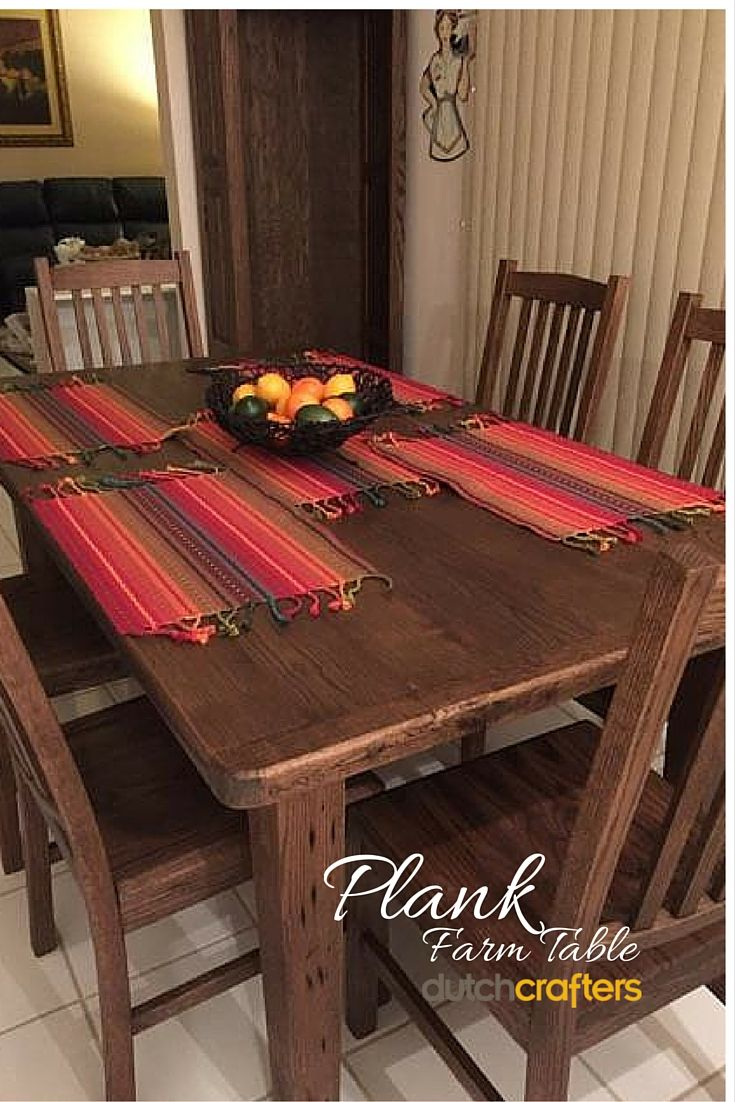 """Our reclaimed plank wood farm table is made of handsome barn wood for that so-old-it's-new look you're after.  """"I wanted you to see how beautiful the set turned out - Thanks for all your help!"""" Randi L"""