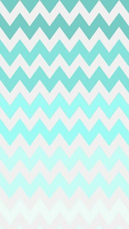 turquoise ombre chevron wallpaper ♥