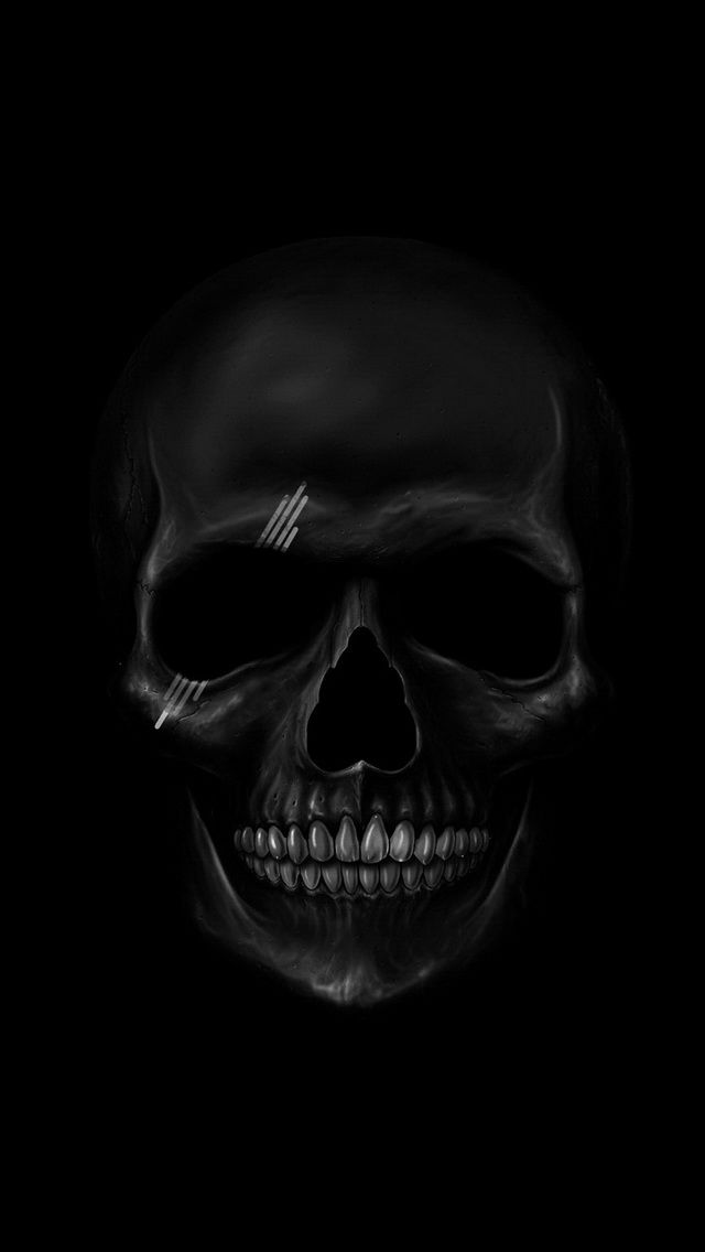 Art Creative Black White Skull HD IPhone Wallpaper