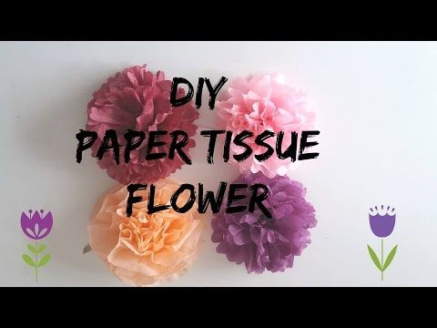 DIY paper tissue flower