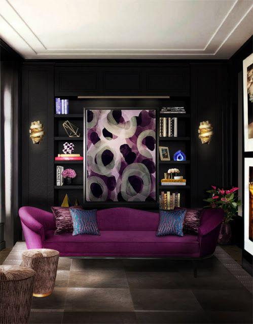Decoração de interiores - Móveis de luxo e glamour ~ Decoração e Ideias - casa e jardim