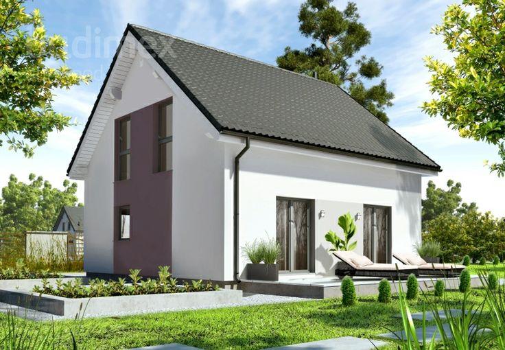 Eineinhalbgeschossige Häuser Point 118 || #houses #hauser || http://www.danwood.de/hauser/eineinhalbgeschossige/point-118