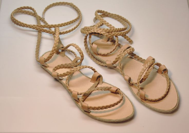 Ancient Greek handmade leather sandals for women genuine leather totally handmade