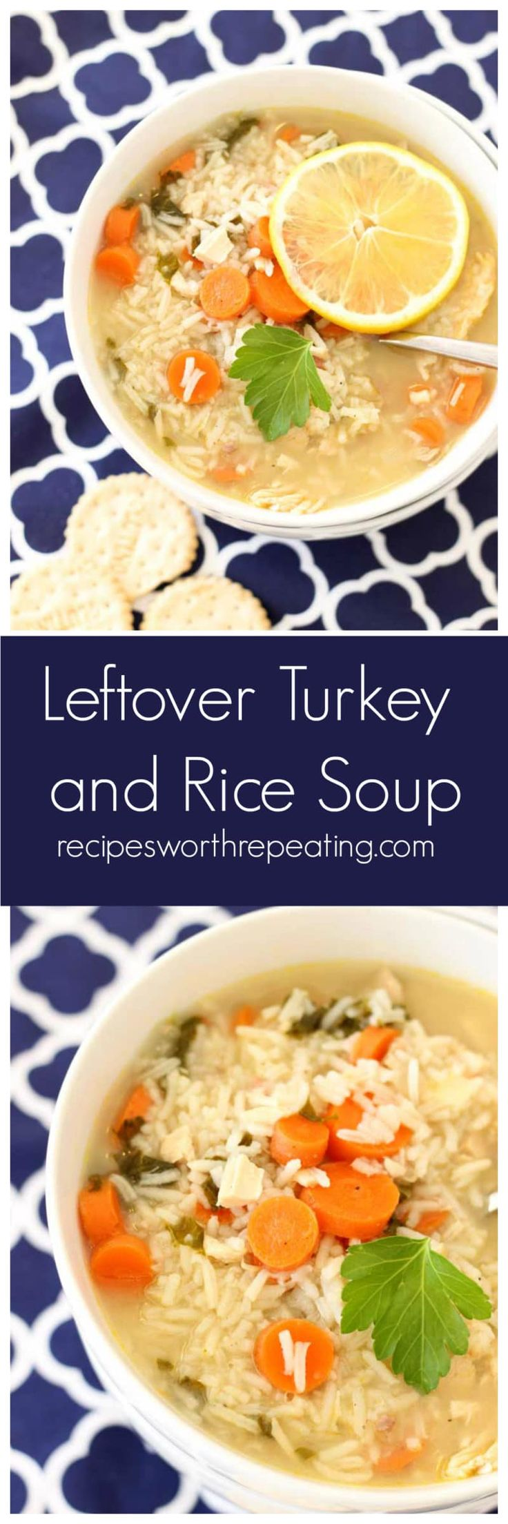 Leftover Turkey and Rice Soup | Recipes Worth Repeating | Gluten Free! This Leftover Turkey and Rice Soup is a perfect way to use up all that leftover turkey from the holidays!