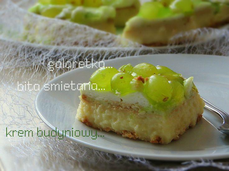 Secret way to the kitchen: Ciasto cytrynowe z pianką i galaretką (bez pieczenia)