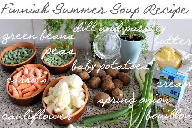 the creative night shift: Finnish Cuisine: Summer Soup Recipe