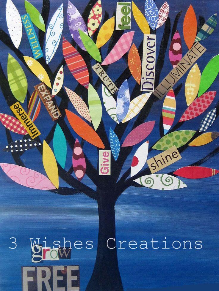 Crecen árboles gratis 8 x 10 impresión por 3wishescreations en Etsy