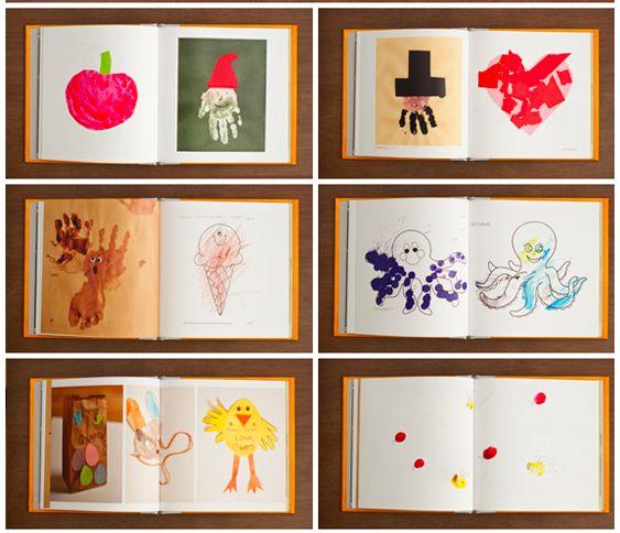 Créez un album photo grâce aux images de leurs réalisations.   19 façons d'immortaliser la créativité de vos enfants