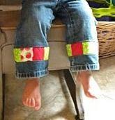 lengthen pants: Good Ideas, Lengthen Pants, Cute Ideas, Lengthen Girls, Clothing Stained, Lengthen Jeans, Patchwork Stripes, Upcycled Kids Clothing, Kids Pants