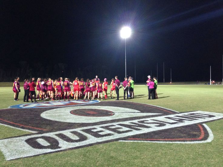 Another amazing display of female #footy in #Queensland  All Stars match played with much heart, courage and soul!  #girlsplaytoo #changethegame #AFLQueensland