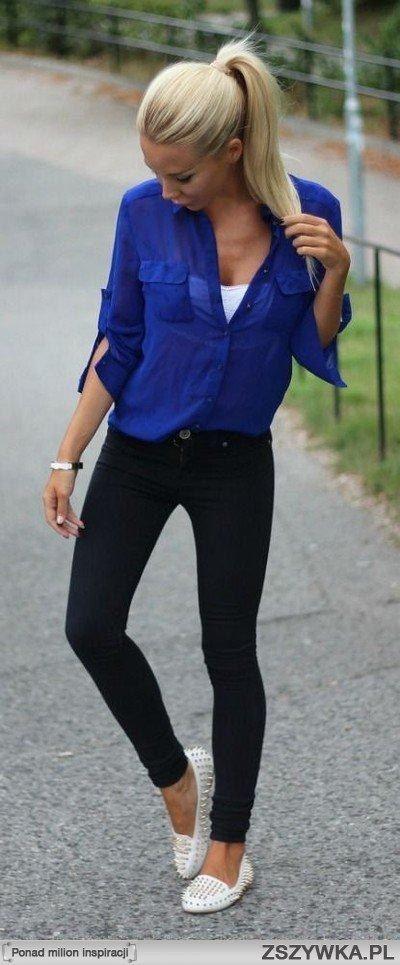 GG slim noir débardeur blanc brassière chemise bleu ballerine ou bottines....