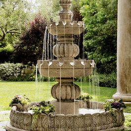 landscaping fountains for front yard | 942 Traditional Outdoor Fountains