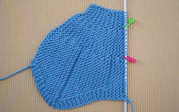 tutorial para hacer gorrito bebé estilo peruano a dos agujas, knit baby peruvian hat
