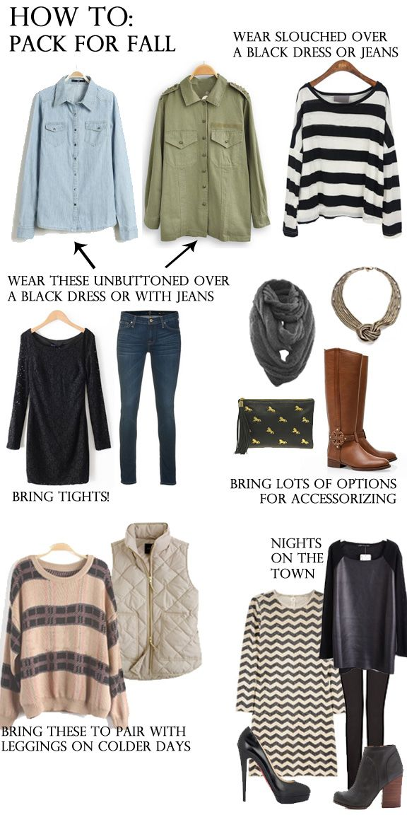 Fashion Will Be: how to: pack for fallfall winter looks inspiration outfits cozy