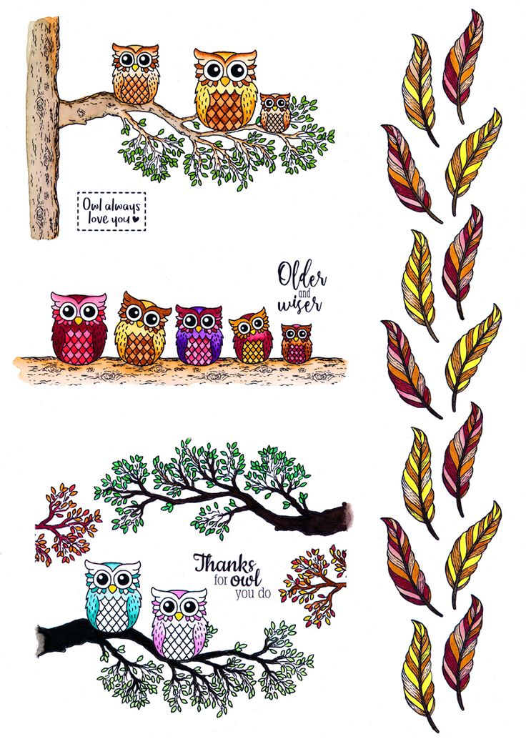 You're a Hoot Inspiration Board - For the Love of Stamps Magazine Issue 7 Free Gift