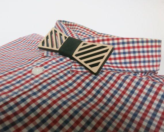 Stripe Wooden Bowties, SALE 20 %, Laser Cut Wood Bow Tie, Fashion Accessories For Men, Women