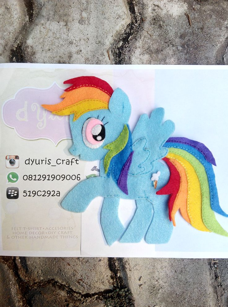 Application which can be sewn on t-shirt/jacket/bag or other - Rainbow Ponny -