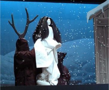 "Seiwa BUNRAKU ""YUKIONNA"":The specter of Japan to the people freezing to death ""YUKINJYO(Snow Woman)   "".http://www.town.yamato.kumamoto.jp/bunrakunosato/index.html"