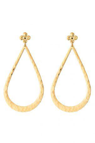 Gas Bijoux Gas Bijoux 24kt vergoldete Ohrringe in Tropfenform – Gold