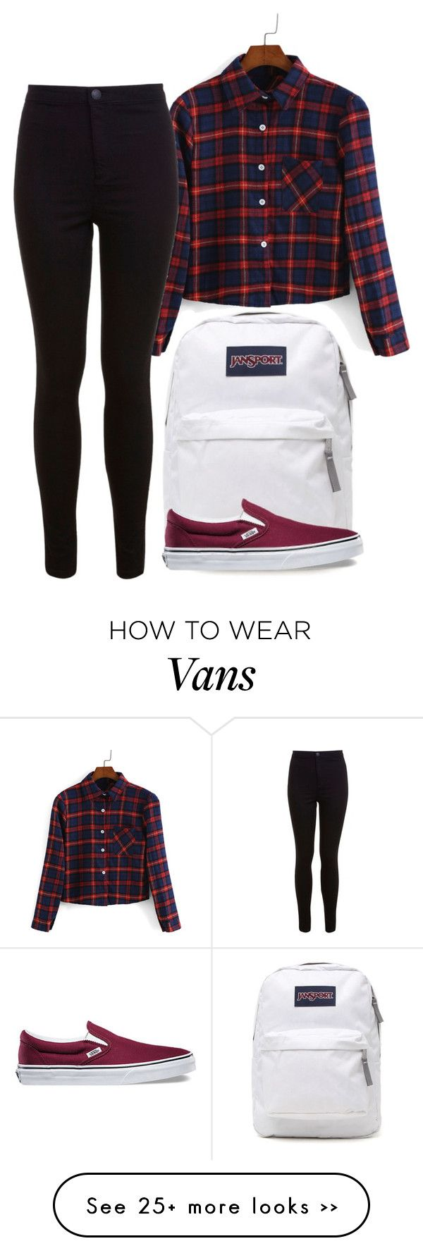 """Untitled #246"" by soleilgarnett on Polyvore featuring JanSport, Miss Selfridge and Vans"