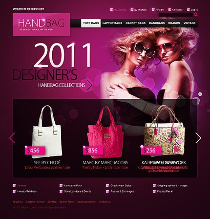 Handbag Boutique Magento Themes by Hermes