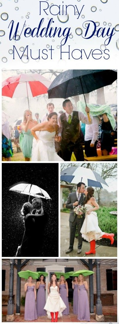 Ideas for rainy day wedding must haves - With a rustic or country style wedding - especially one that is planned for outside - it is always best to play it safe and have these items on hand.