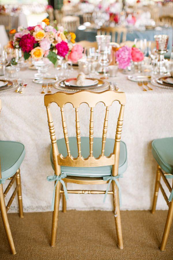 Gold chair wedding
