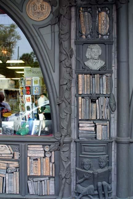 Storefront architecture--Could be good inspiration for woodwork-trim in our home library