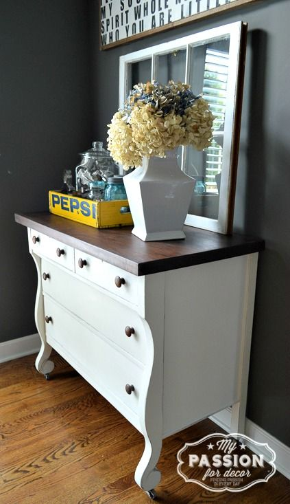 My Passion For Decor: From Beat Up to Beautiful: Empire Dresser Makeover