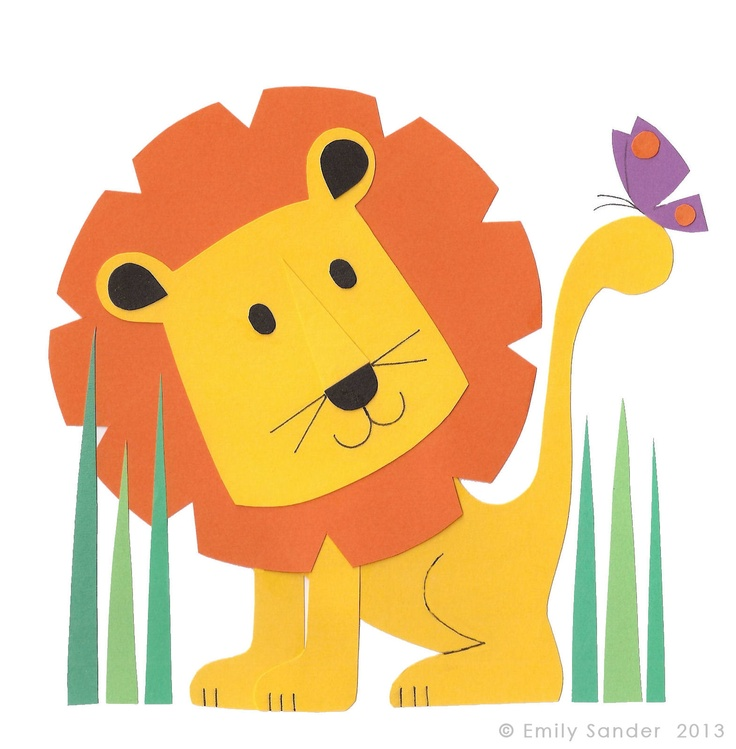 Little Lion greeting card, new from Nugget Design Studio. Available at Etsy
