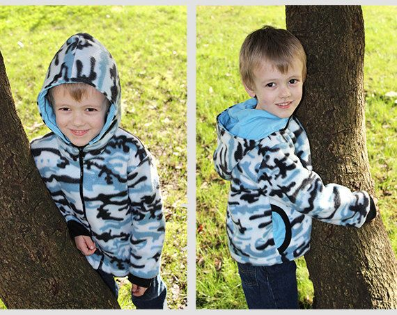 TIGER Hoodie Boy Girl Jacket pattern Pdf sewing von PUPERITA