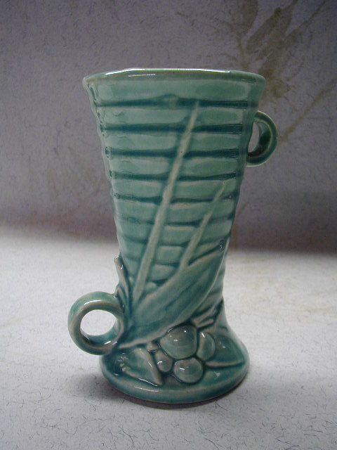 Vintage McCoy Pottery Vase  Green  Berries