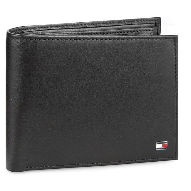 Duży Portfel Męski TOMMY HILFIGER - Eton Cc Flap And Coin Pocket AM0AM00652 002