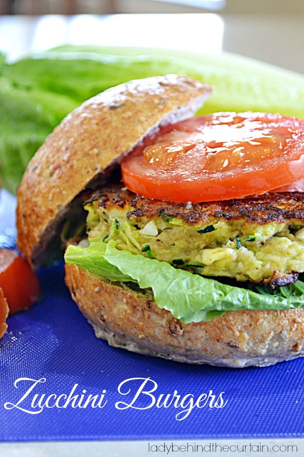 Zucchini Burgers are a great, lighter alternative to a heavy hamburger.