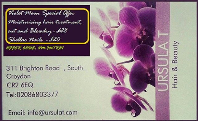 #violetMoonPsychic  #special offers for Violet Moon clients  May 2016 # moisturising hair treatment, cut and blow dry £28 #Shellac nails £20