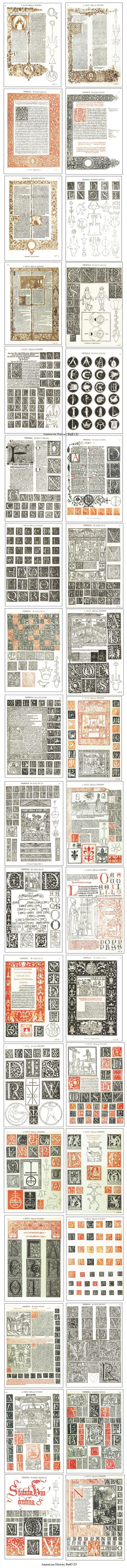 Venetian Typography Italian Renaissance Woodcut Printing Illuminated Manuscript   eBay