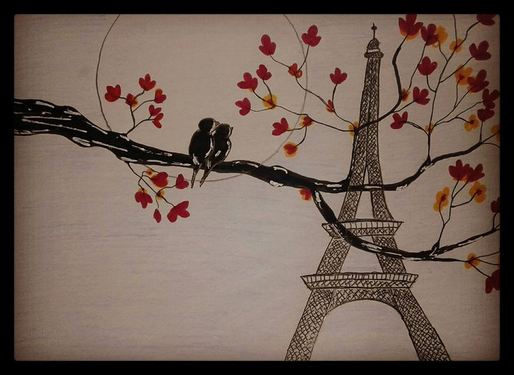 #Lovebirds #toureiffel ❤🗼🐤