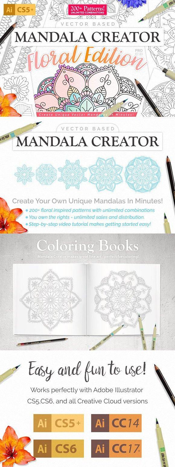 Mandala Creator - Floral Edition. Plug-ins. $19.00